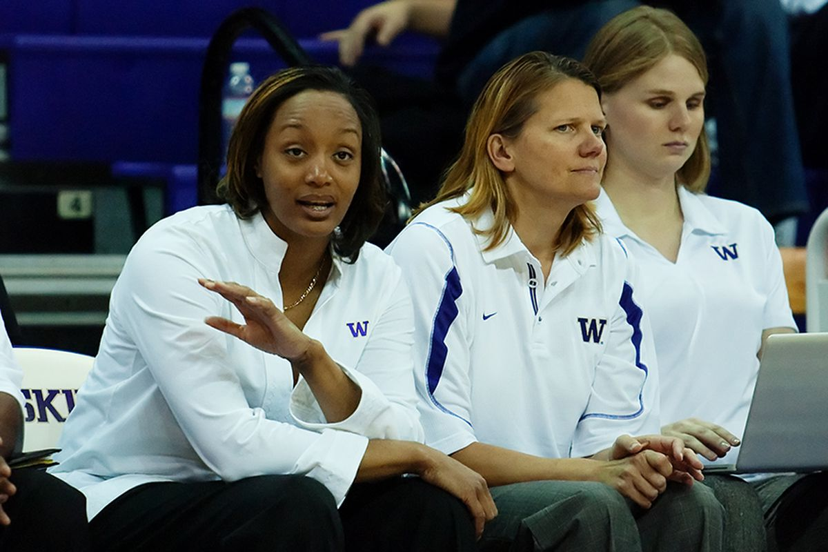 """In response to the question, """"What does Thanksgiving mean to you?"""", University of Washington coach Tia Jackson remembers her high school coach, Barbara McCool, who recently passed away at 71 after fighting cancer."""