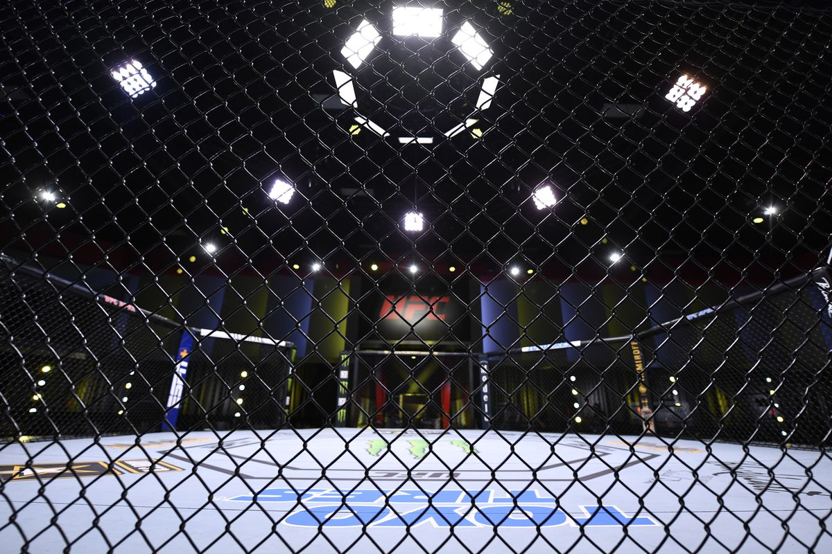 A general view inside the UFC APEX prior to the UFC Fight Night event on May 30, 2020 in Las Vegas, Nevada.
