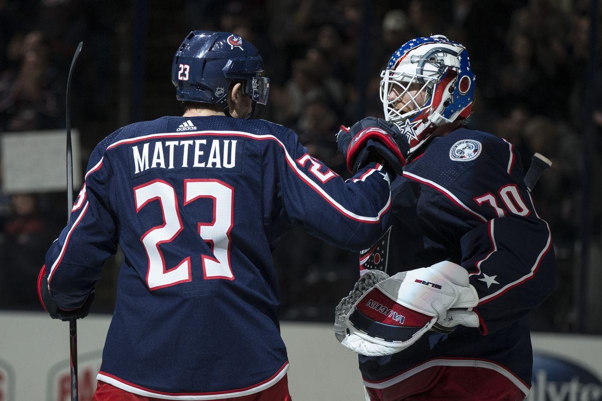 NHL: Vancouver Canucks at Columbus Blue Jackets