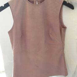 Pink sleeveless top, $150