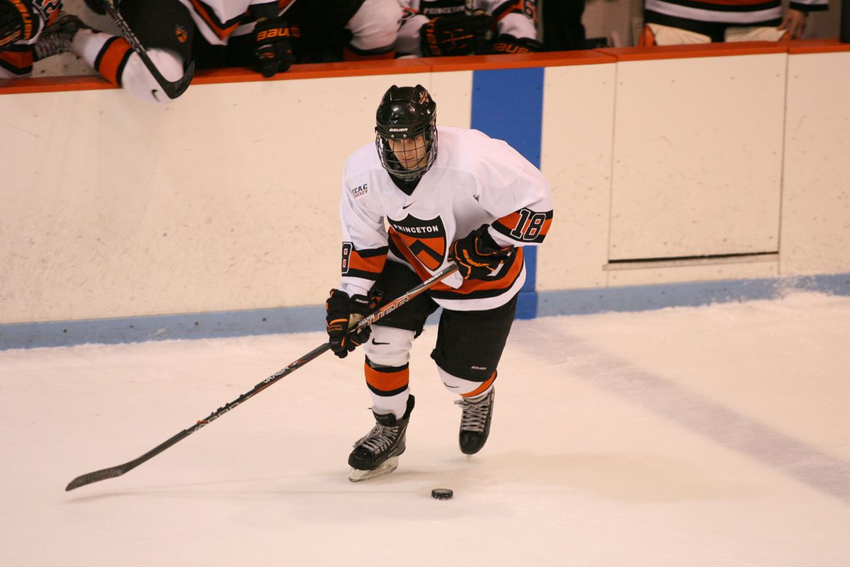 Princeton senior forward Andrew Calof and his teammates invade High Point Solutions Arena on Friday night to take on Quinnipiac.
