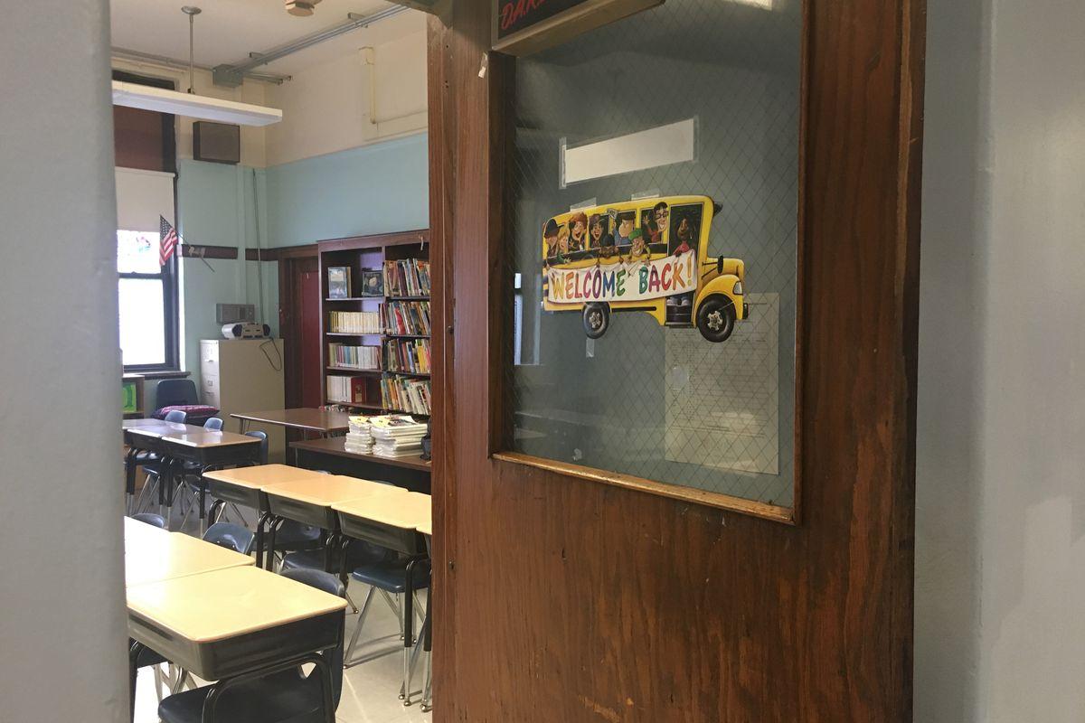 A classroom at Josephine Locke Elementary School