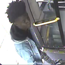Surveillance image of the man police believe is the alleged shooter