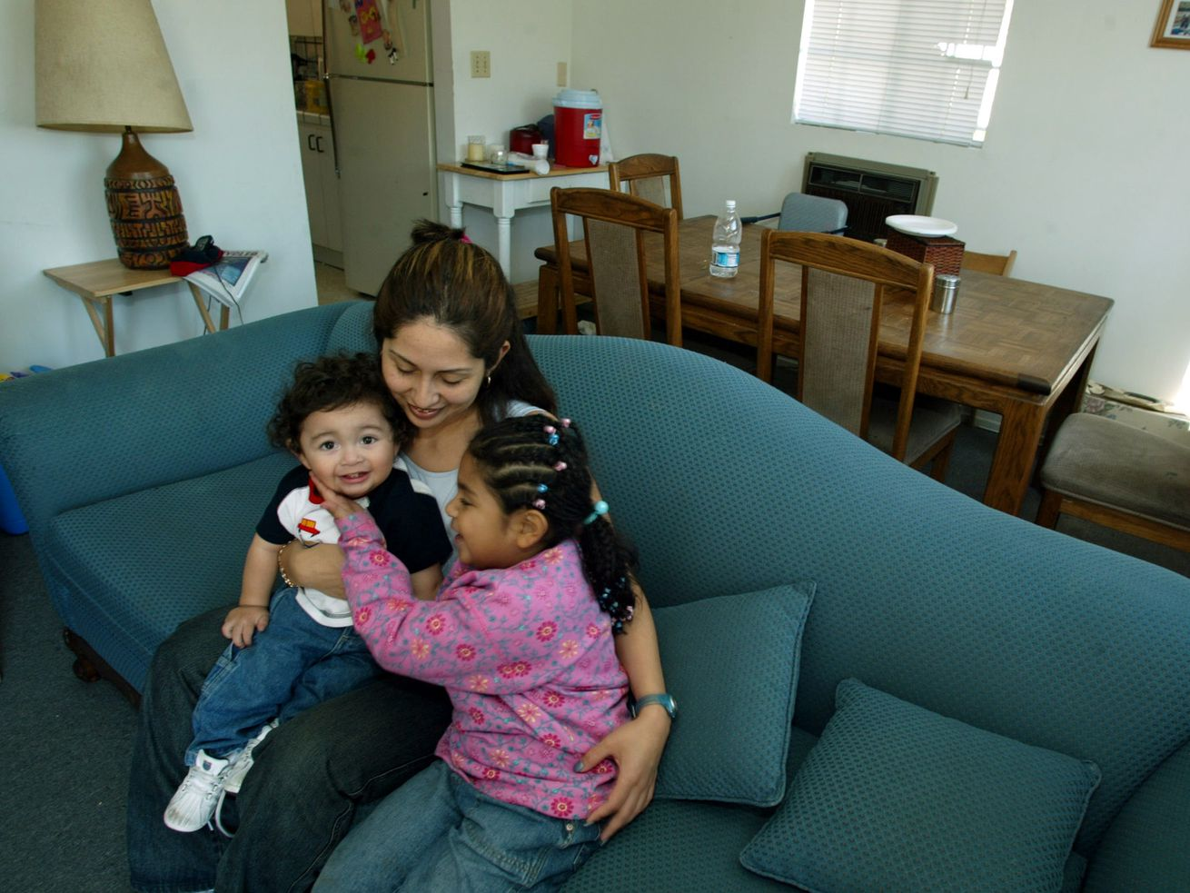 Roxanna Villa, pictured in 2003, who put a down payment on a house with her EITC refund. More parents like her could benefit from a caregiver EITC.