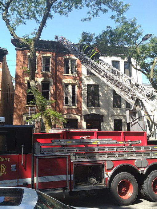 Fire crews responded to a fire Aug. 20, 2020, in the 1900 block of North Sedgwick Street.