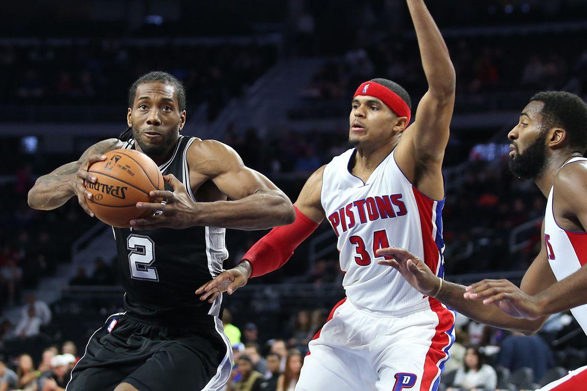 NBA: Preseason-San Antonio Spurs at Detroit Pistons