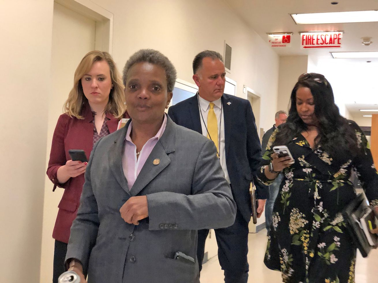 Mayor Lori Lightfoot wrapping up her first cabinet meeting.
