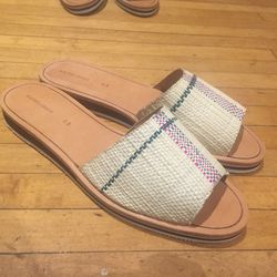 Sample sandals ($100): The woven material makes these the perfect summer shoe.