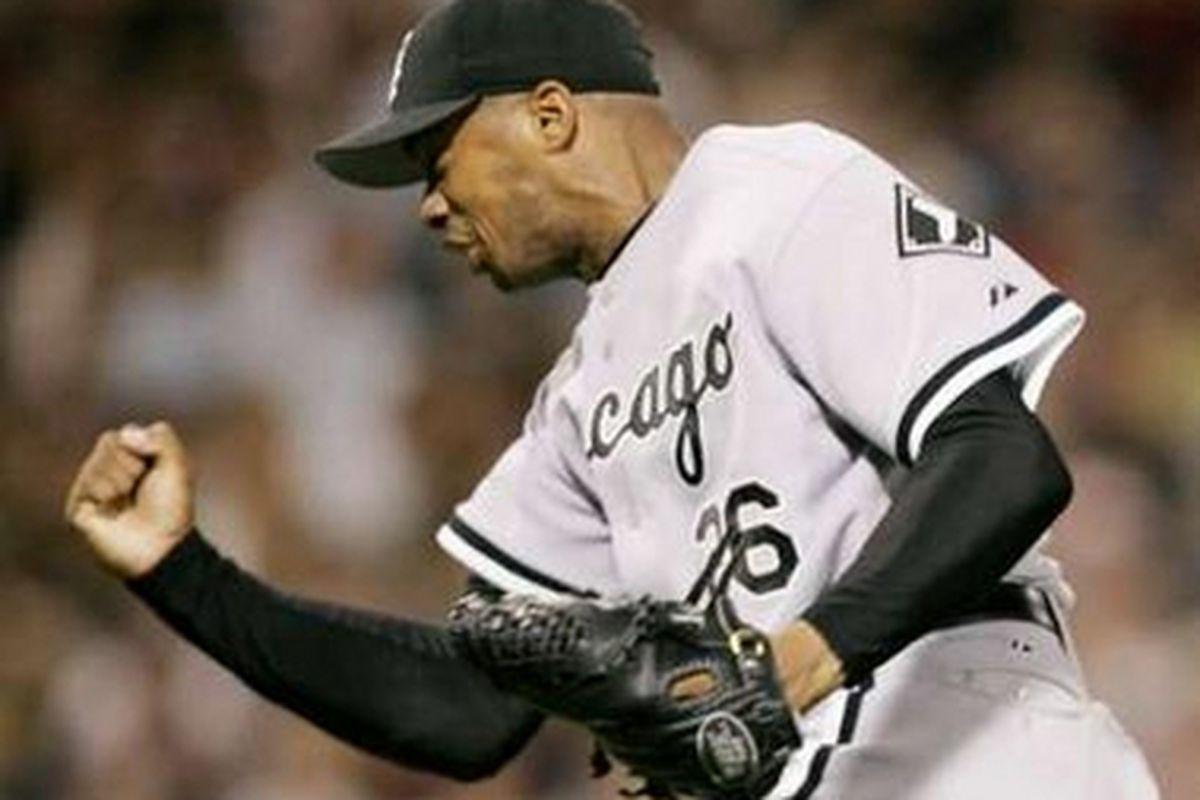 White Sox playoff hero Orlando Hernandez.