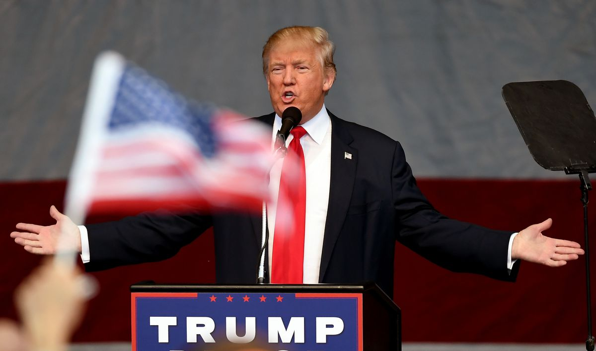 Donald Trump Holds Campaign Rally In Nevada