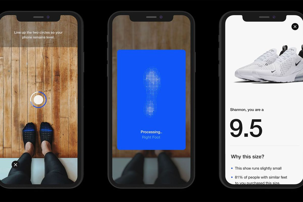 f9c3d0dee2a9b Nike's new app uses AR to measure your feet to sell you sneakers that fit