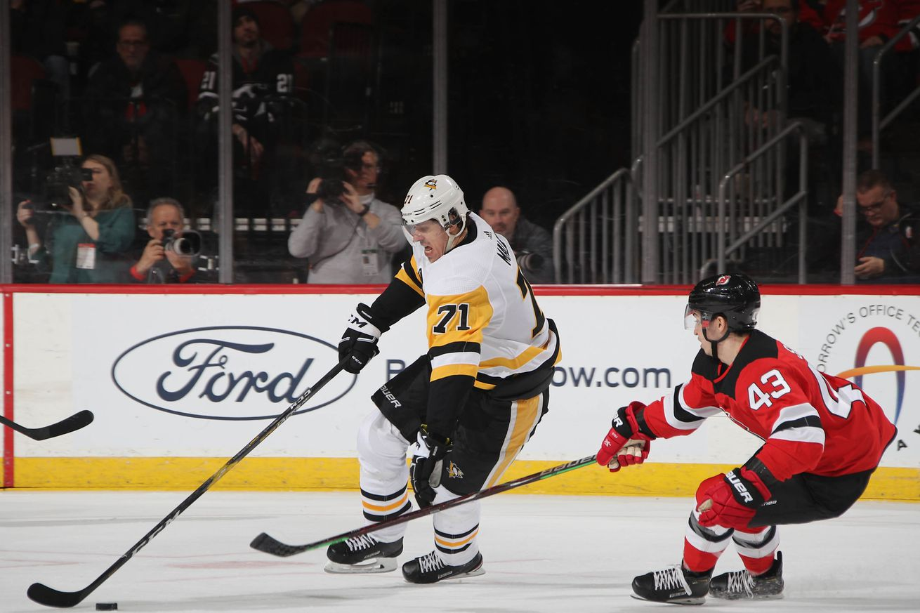 Game 19 Preview: Pittsburgh Penguins @ New Jersey Devils 11/15/2019: lines, how to watch
