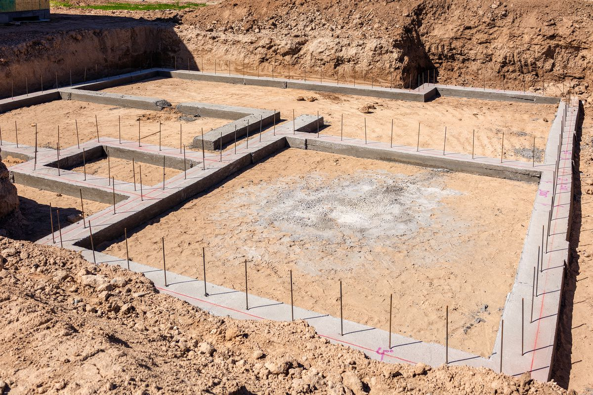 Foundation of a new home.