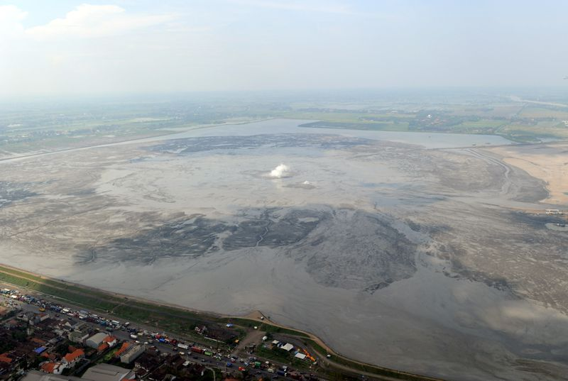 The Lusi mud volcano continues to spew toxic mud since it started erupting in 2006 in Java, Indonesia.