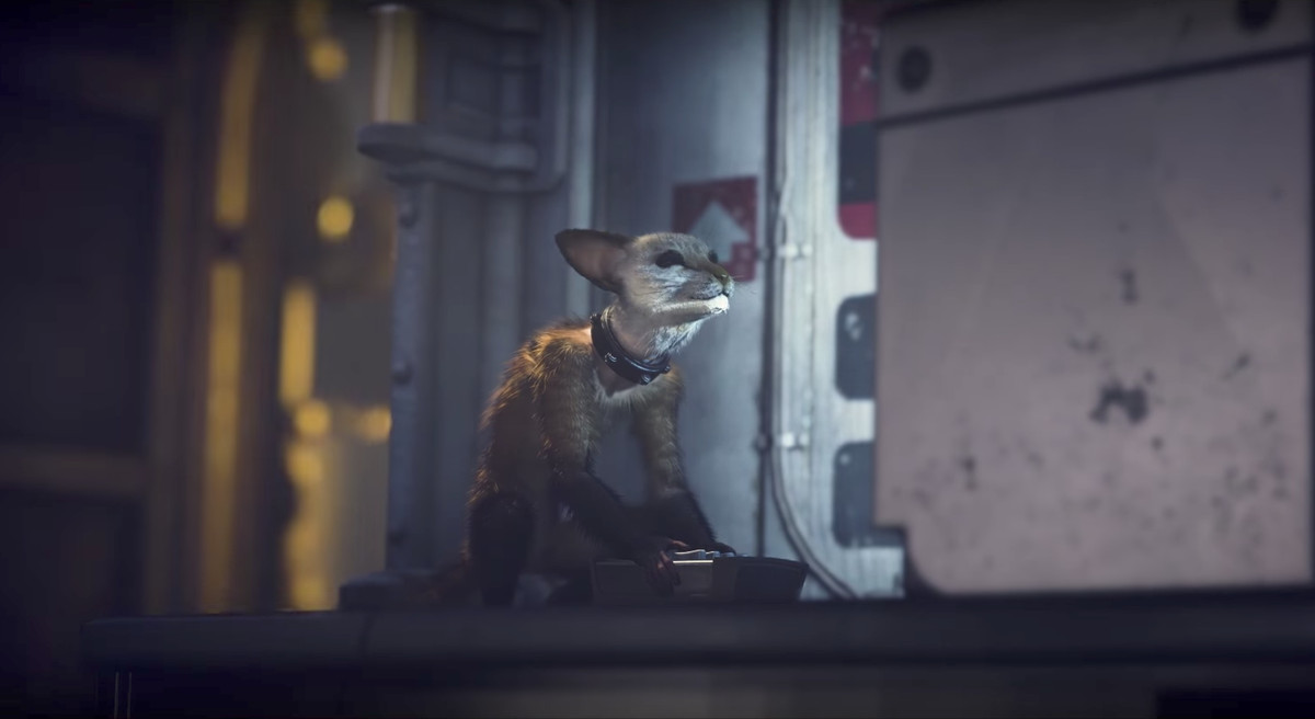 Wolfenstein 2: The New Colossus - a monkey with the head of a cat