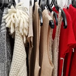 Knits by Creatures of Comfort, Rag & Bone, Helmut Lang, and more.