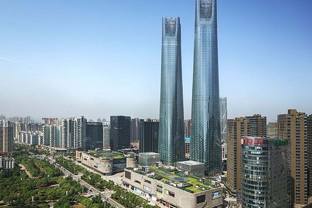 """All photos courtesy of <a href=""""http://www.som.com/news/som_completes_twin_towers_in_nanchang"""">SOM</a>"""