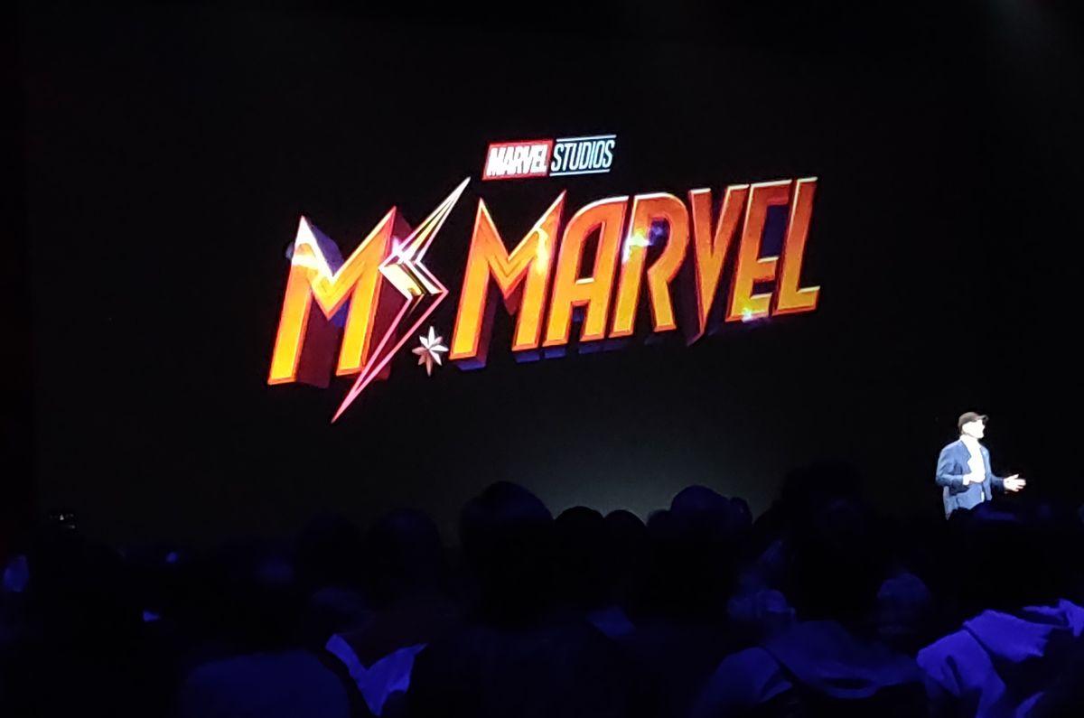 ms. marvel disney plus logo treatment at d23 expo