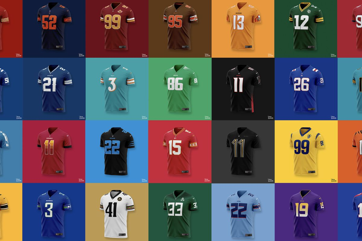 NFL Jersey Redesign: A new jersey for each NFL team - Fake Teams
