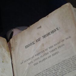 The title page of Helen Schlie's missing first-edition copy of the Book of Mormon.