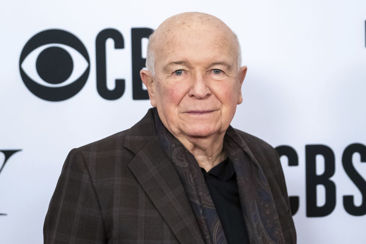"""Terrence McNally arrives at the 73rd annual Tony Awards """"Meet the Nominees"""" press day in New York in 2019."""