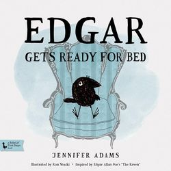 """""""Edgar Gets Ready for Bed"""" is a picture book that's part of Jennifer Adams' BabyLit series."""