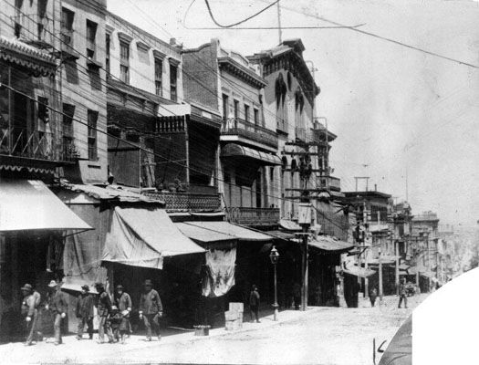 Grant Avenue before the 1906 earthquake and fire.