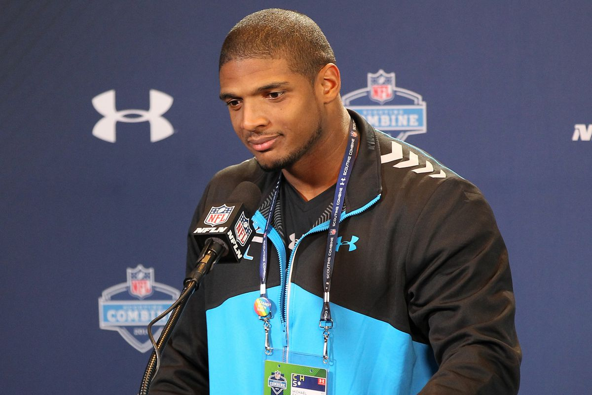 Michael Sam at the Combine
