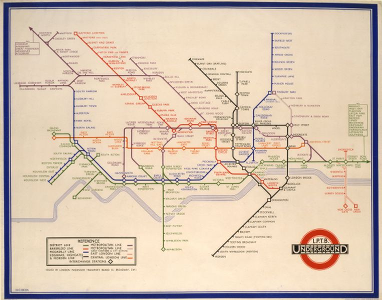 Meet Harry Beck The Genius Behind Londons Iconic Subway Map - Germany beck york map