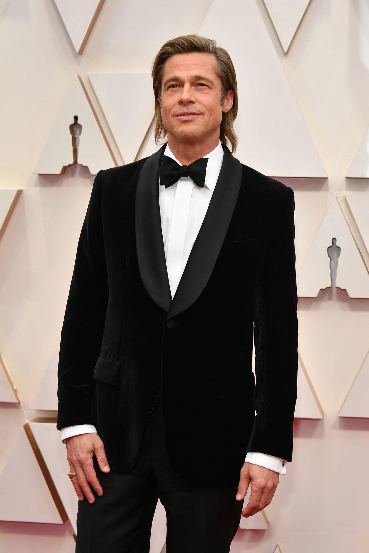 Brad Pitt attends the 92nd Annual Academy Awards.