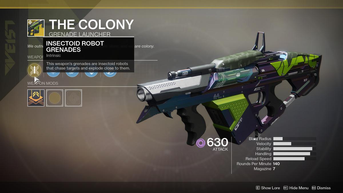 The Colony Exotic Destiny 2