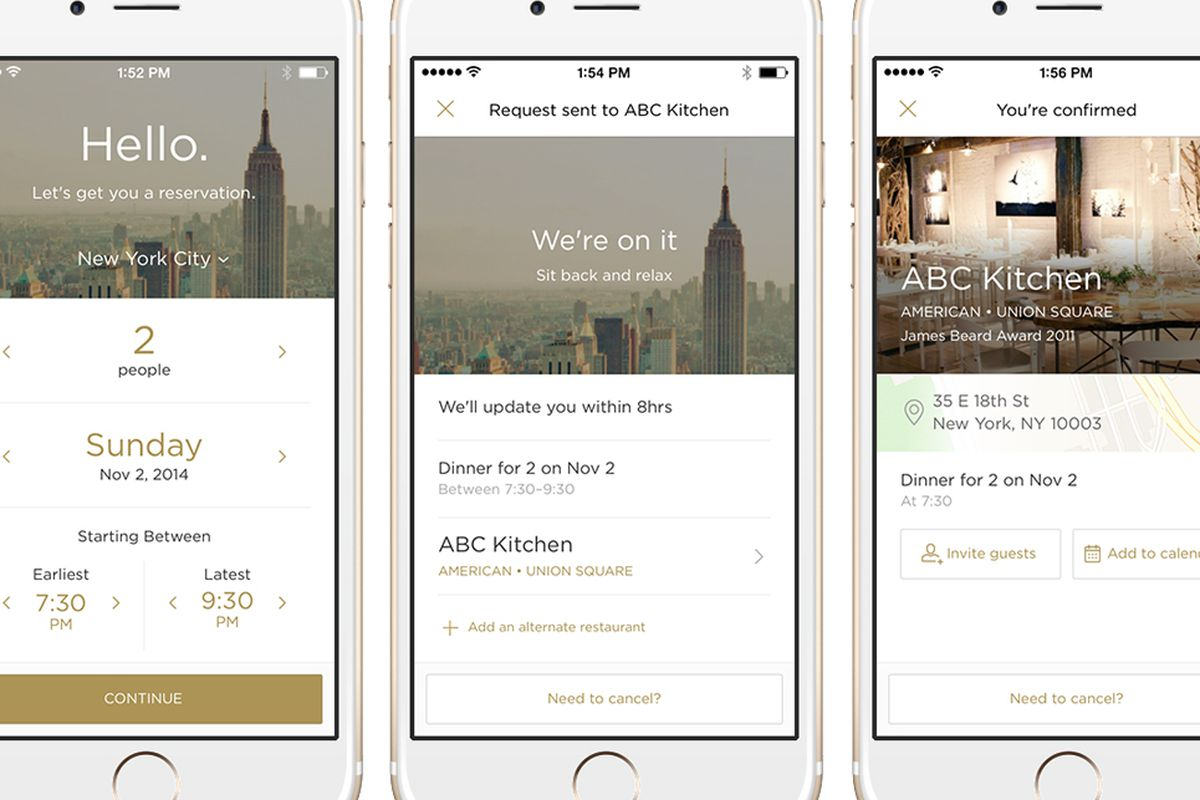 Reserve: New App Is Your Concierge to Hot Restaurants Across the US ...