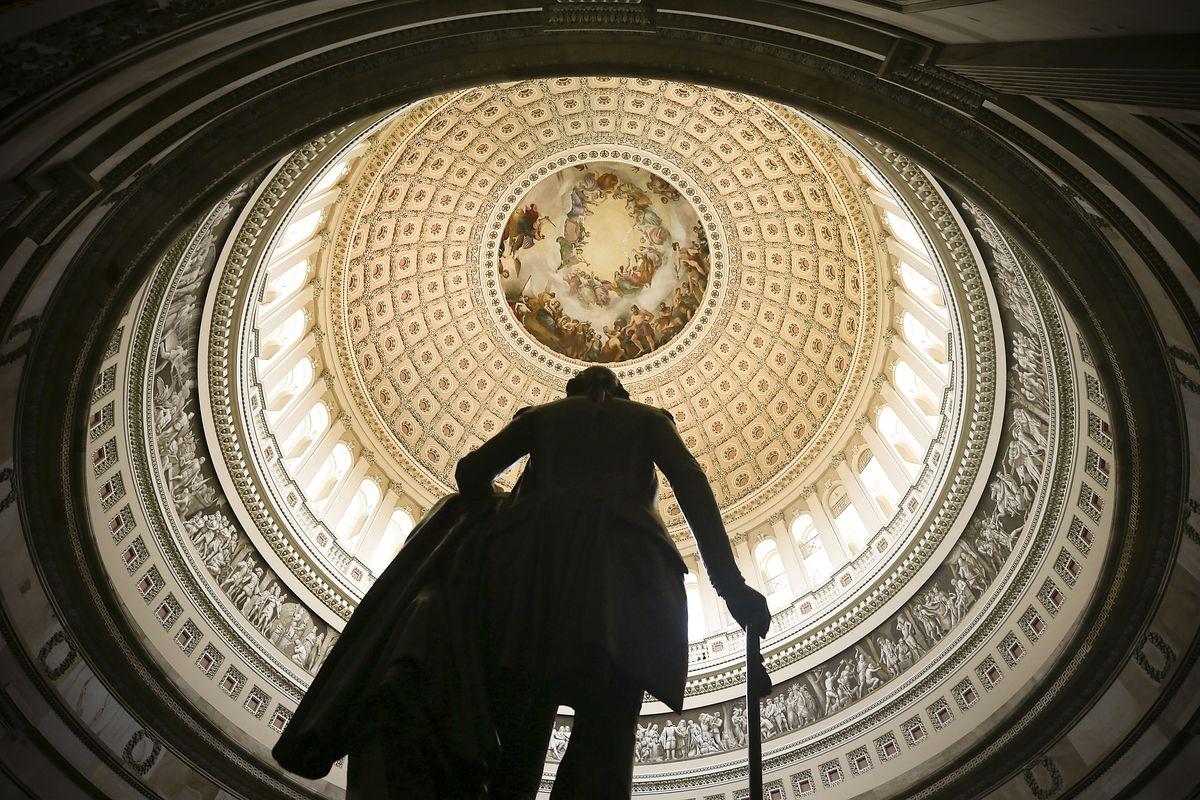 The US Capitol Rotunda.