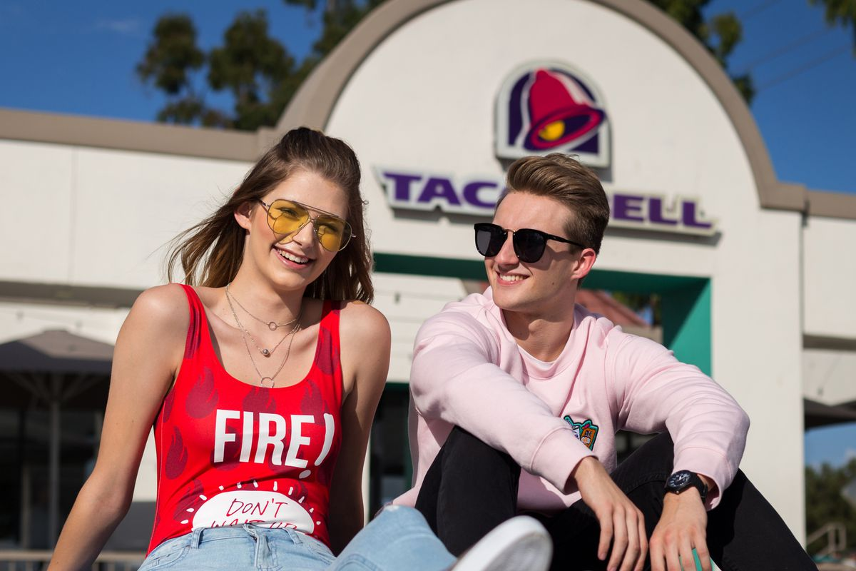 938f1750ab Taco Bell and Forever 21 s New Clothing Line Is the Ultimate Generation Z  Bait