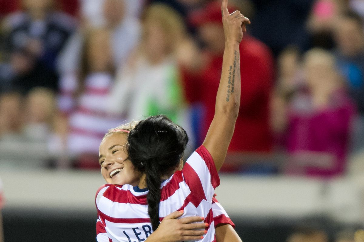 Fittingly, Mewis and Leroux have developed a strong relatiosnhip during their run with the U.S. Women's National Team
