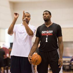 Rasheed teaches Detroit's young big man