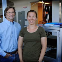 Marc Porter, a University of Utah chemical engineering and chemistry professor, and Jennifer Granger, an associate researcher at the Nano Institute of Utah, say an inexpensive test kit they are developing could one day help rapidly flag patients' signs of liver cancer.