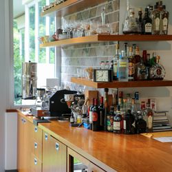 A well stocked bar is also a must for any chef.