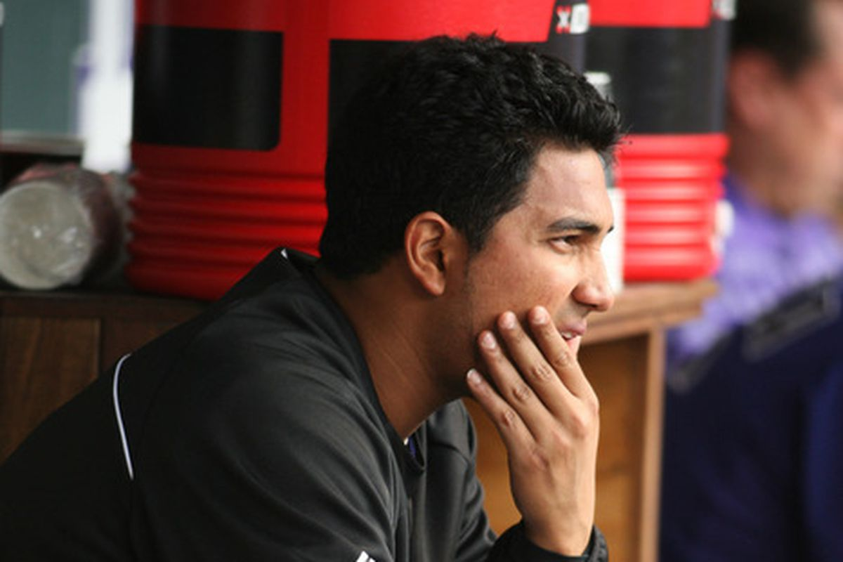 The Rockies hopes this season lie heavily on the arm of Jhoulys Chacin