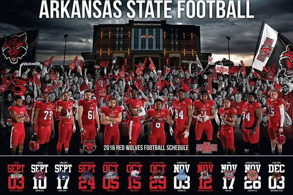 The Sun Belt Attendance Champs get a shout out in this year's schedule poster.