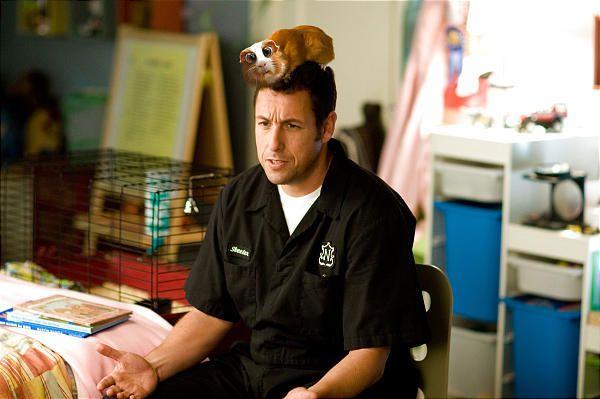 """Adam Sandler mugs shamelessly for the camera in new film, """"Bedtime Stories."""""""