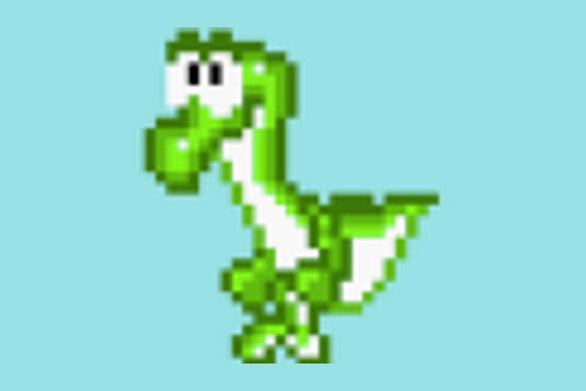 Beta Yoshi from the Super Mario World Giga Leak.