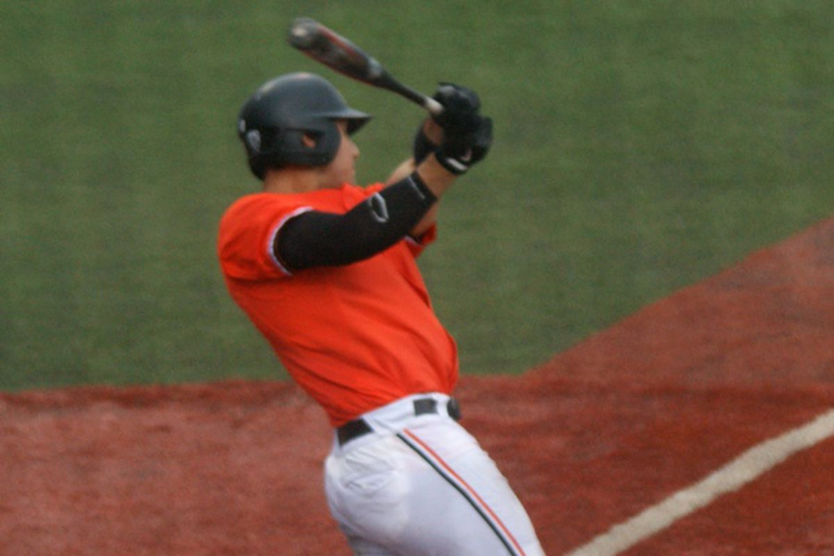 Michael Conforto clouted his first home run of the season to get things started for Oregon St. last night against Utah.