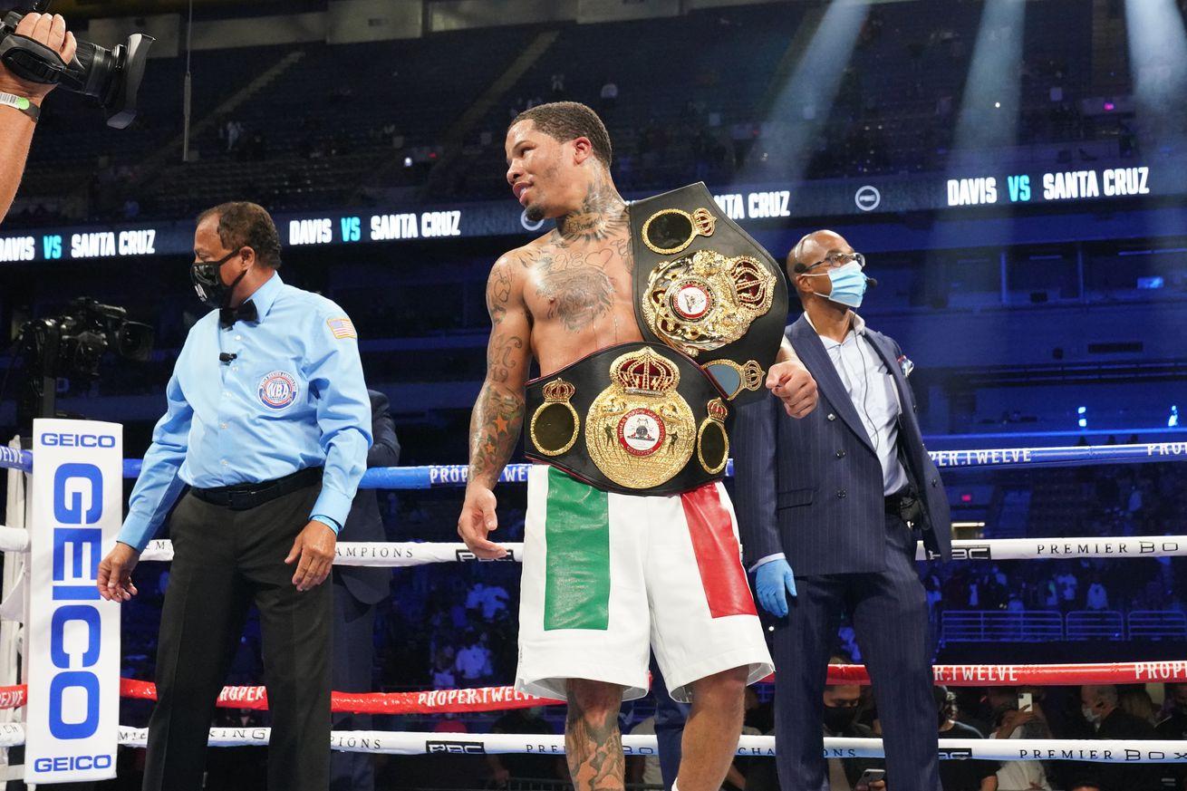 Gervonta Davis vs Leo Santa Cruz   Fight Night7.0 - Bad Left Hook Boxing Rankings (Nov. 2, 2020): Davis joins Canelo as only fighters ranked in two divisions