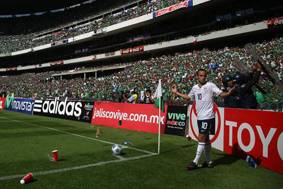 Landon Donovan is always a major target of hatred from the Mexican fans when he travels to Aztec Stadium.