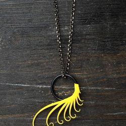 "Spike plume necklace ($32) by <a href=""www.zoachimerum.com"">Zoa Chimerum Jewelry</a>"