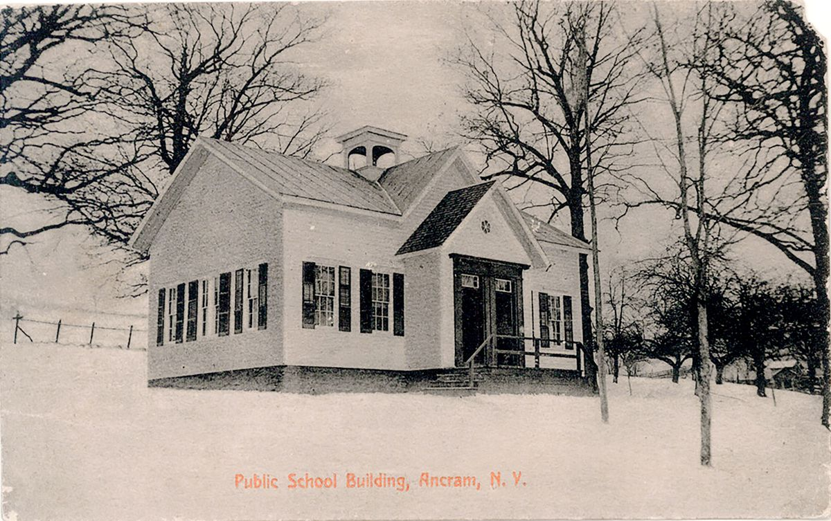 house featured in a vintage postcard, Getting Schooled, Sep/Oct 2020