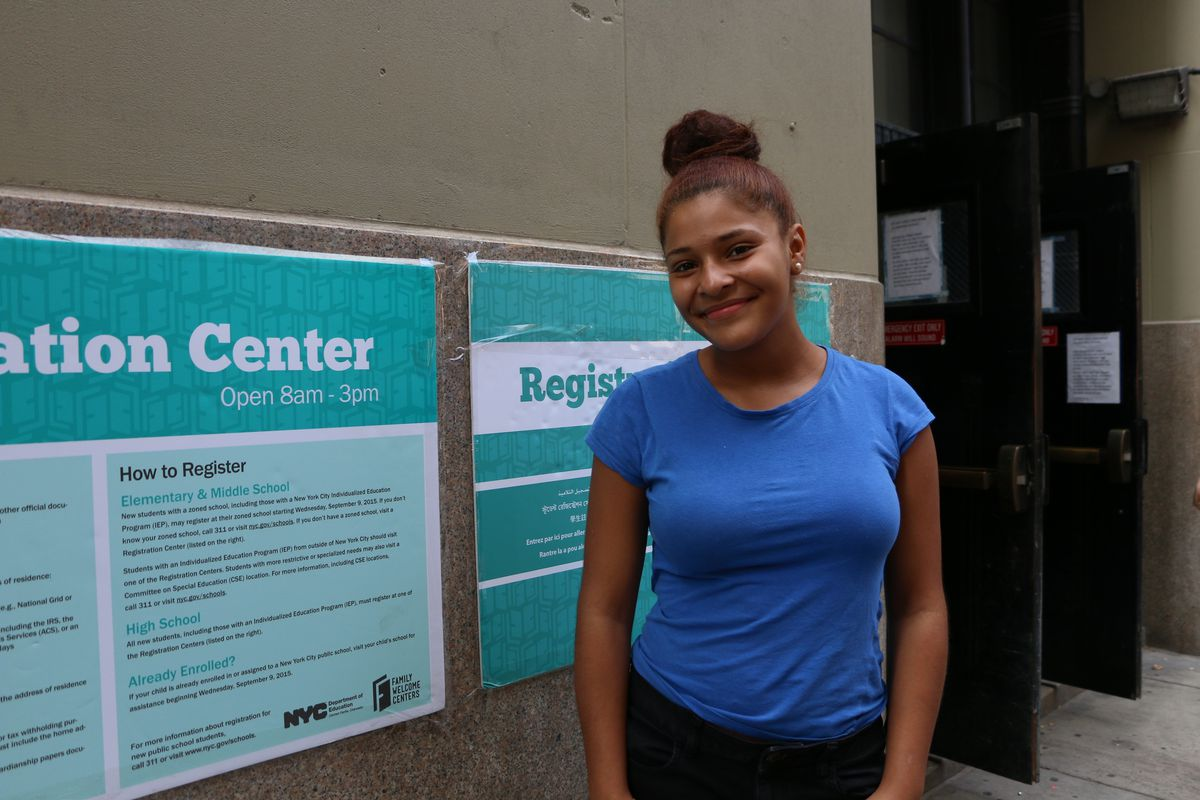 Jesiriam Rosario, who is trying to transfer to a school in Chelsea, said the experience was quick and easy.