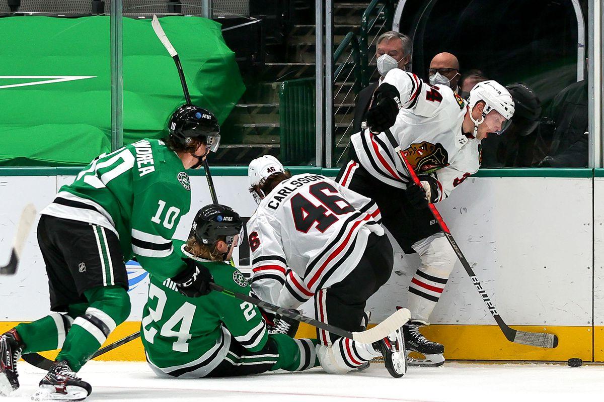 NHL: MAR 09 Blackhawks at Stars