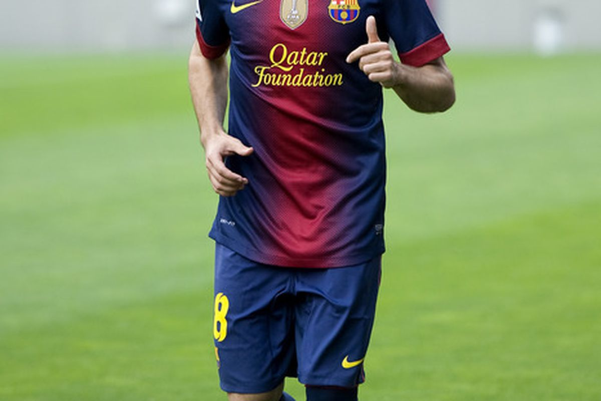 BARCELONA, SPAIN - JULY 05:  Jordi Alba poses during his official presentation as the new signing for FC Barcelona at the Camp Nou Stadium on July 5, 2012 in Barcelona, Spain.  (Photo by David Ramos/Getty Images)